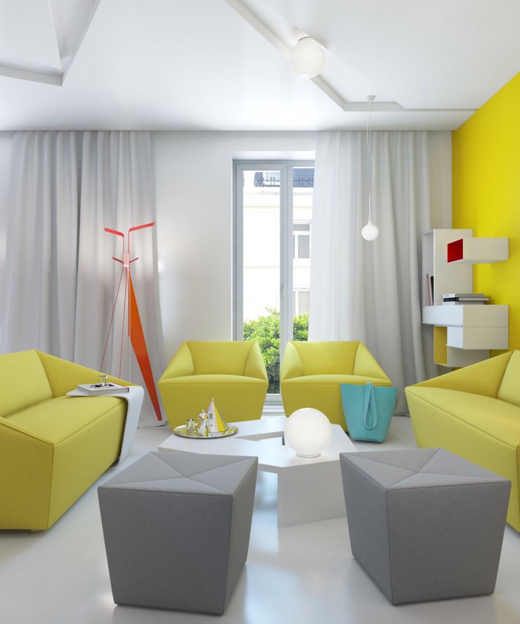 Langsir ruang tamu moden minimalis sesuai untuk ruang tamu putih yang menyerlahkan aura mewah