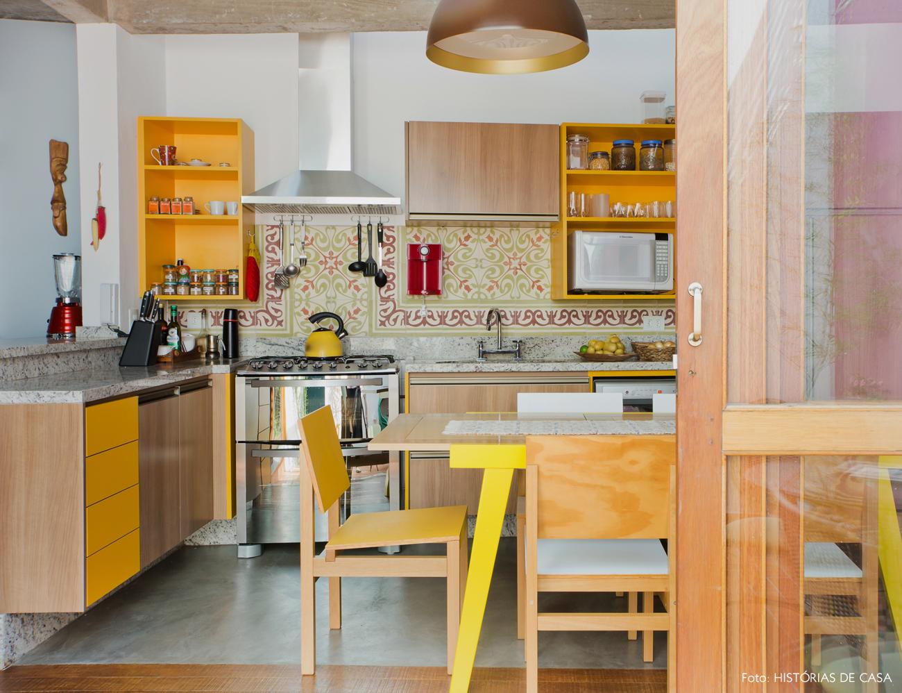 Dekorasi Dapur Dengan Warna Tema Kuning Mustard