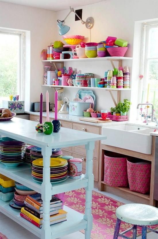 View In Gallery Hiasan Dalaman Dapur Dengan Warna Pelangi