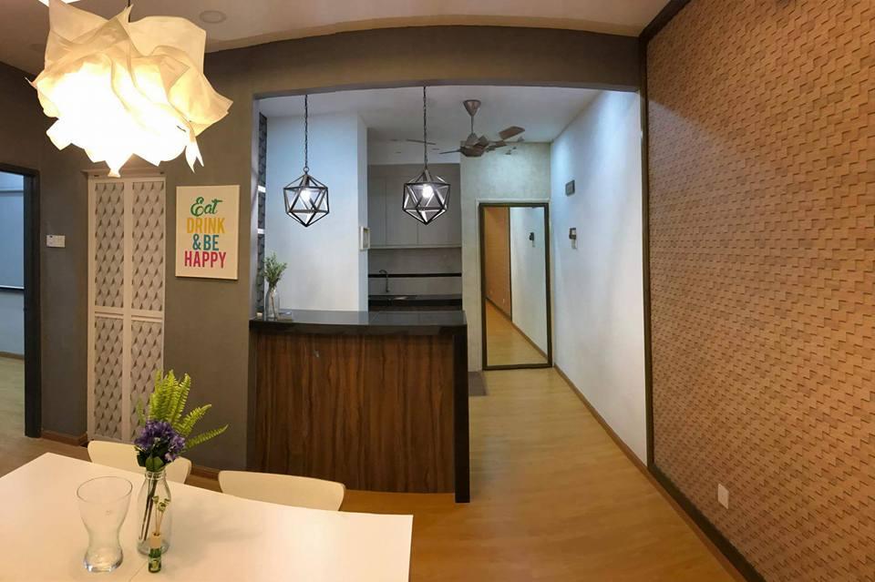 Idea dekorasi dinding rumah apartment menggunakan wallpaper