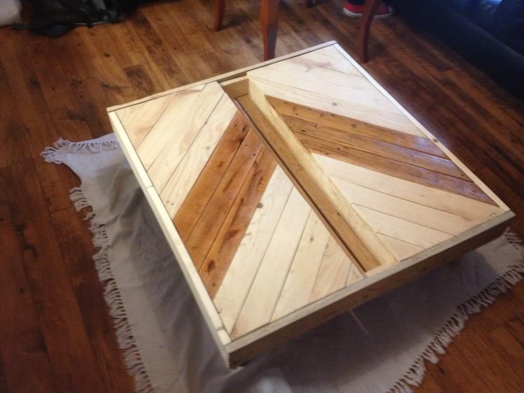 Idea meja jepun dari kayu pallet sesuai untuk dekorasi ruang tamu