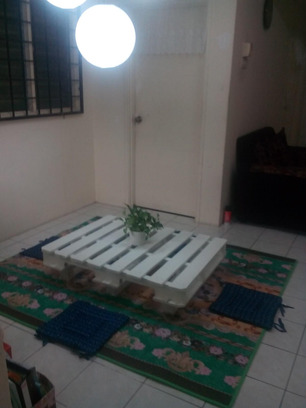 Simple tapi cantik idea meja jepun kayu pallet ni