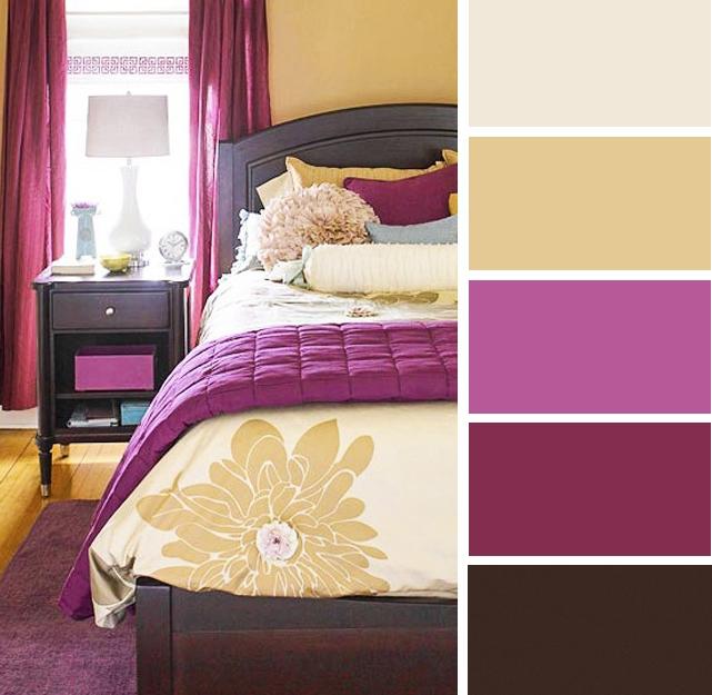 Dekorasi bilik tidur dengan tema mustard dan beri