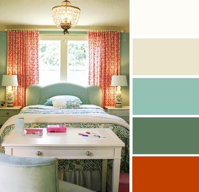 Warna bilik tidur Oren & Biru