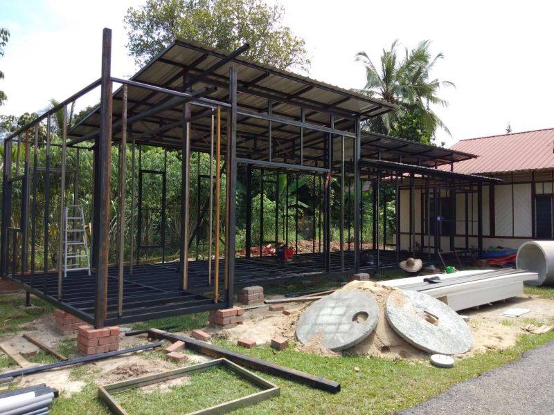 Rangka Rumah Dibina Menggunakan Besi Hollow Cara Jimat Buat Sendiri Yang Practical Cantik