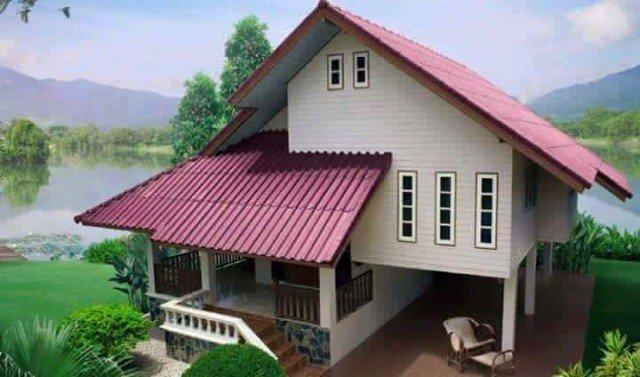 Design rumah moden traditional dengan lantai tinggi