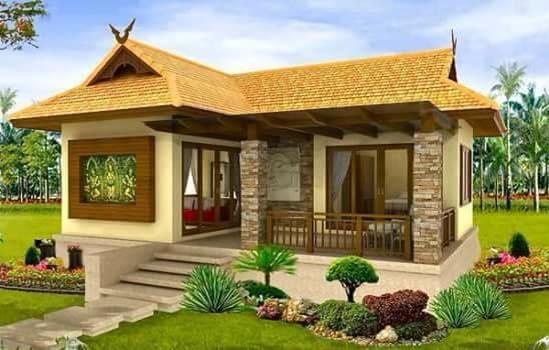 design rumah banglo 1 tingkat konsep kampung moden