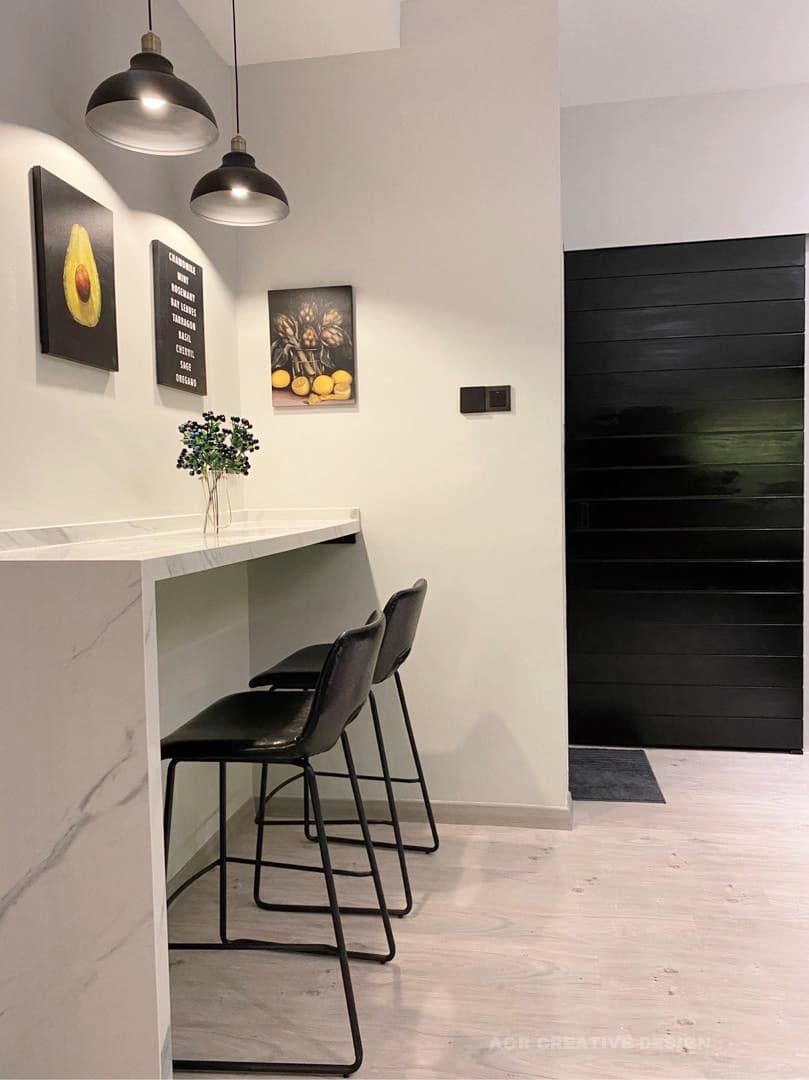 deko bar area minimalis moden