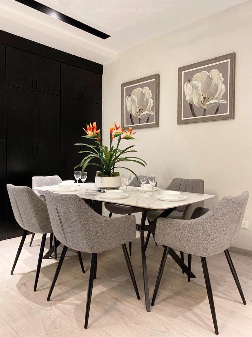 deko ruang makan minimalis moden